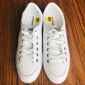 NWOT COACH Porter White Chalk Sneakers